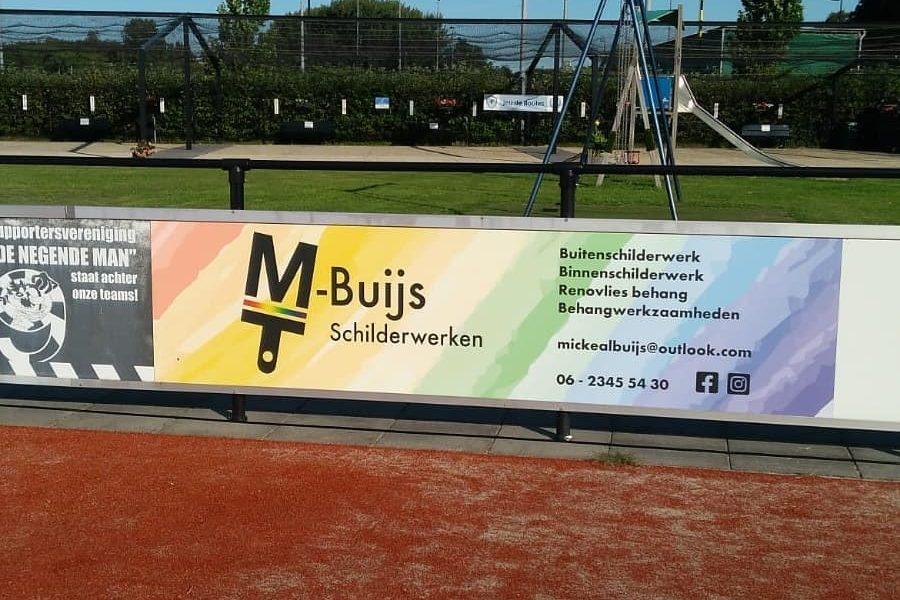 M-Buijs Schilderwerken = Trots om sponsor te zijn van korfbal vereniging KCC.