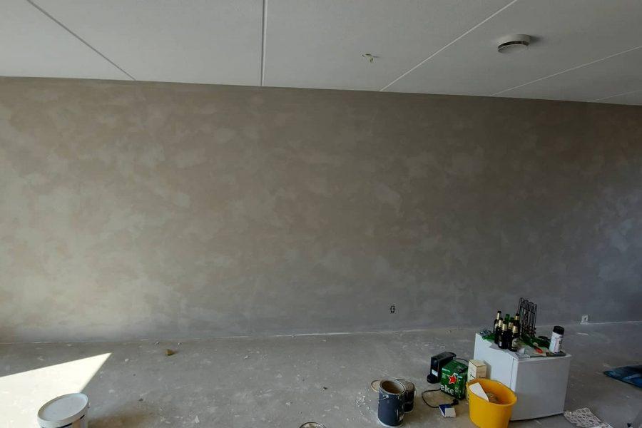 Nieuwbouwwoning – Nieuwerkerk- betonlook-renovlies en sauzen – trappenverven